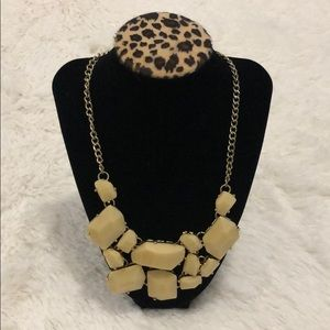 Forever 21- Cream and Gold Statement Necklace